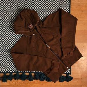 Womens sz 8 Lululemon Vintage Brown Scuba Hoodie